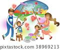 illustration, family, paint 38969213