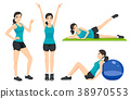 Presentation idea fitness women general exercise. 38970553