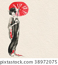 Geisha. Woman in traditional clothing. Japanese 38972075