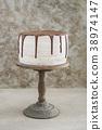 Naked drip wedding cake 38974147