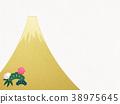 종이 - 후지산 - 배경 - 금박 - 현대 38975645
