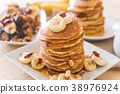 almond banana pancake 38976924