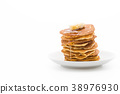 cheese on pancake  with honey 38976930