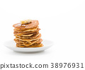 cheese on pancake  with honey 38976931