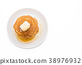 cheese on pancake  with honey 38976932