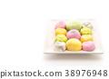 dessert mochi on white 38976948