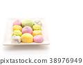 dessert mochi on white 38976949