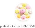 dessert mochi on white 38976950