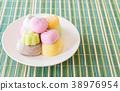 colorful dessert mochi 38976954