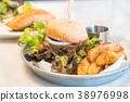 teriyaki chicken burger 38976998