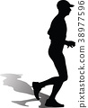 runner silhouette vector 38977596