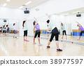 有氧運動健身健美操健身房婦女行使 38977597