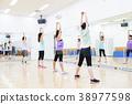 有氧運動健身健美操健身房婦女行使 38977598