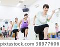 有氧運動健身健美操健身房婦女行使 38977606