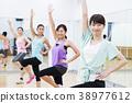 有氧運動健身健美操健身房婦女行使 38977612