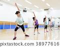 有氧運動健身健美操健身房婦女行使 38977616