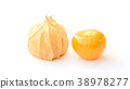 Cape gooseberry on a white background. 38978277