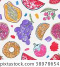 orange fruit pattern 38978654