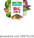 Fresh vegetable with sales banner 38979128