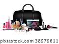 Set of cosmetics on isolated background. Stylish g 38979611