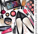 Sets of cosmetics on white background 38979613