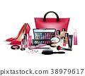 Set of cosmetics on isolated background 38979617