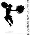 Silhouette Cheerleader 38979829