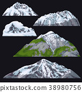Mountains with Snow-covered Tops 38980756