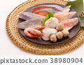Ingredients for cooking pots Frozen fish 38980904