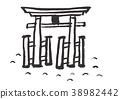 miyajima, water color, watercolor 38982442