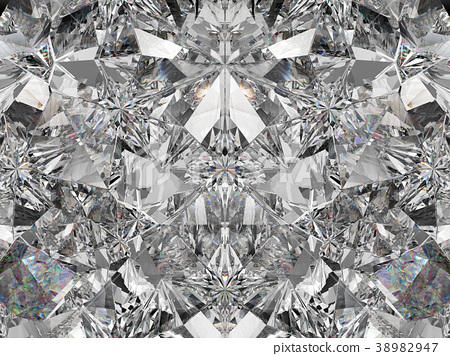 diamond structure extreme closeup and kaleidoscope 38982947