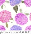 seamless   pattern of hydrangea flowers 38983021