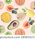 seamless   pattern with fresh fruits 38983023