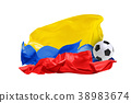 The national flag of Columbia. FIFA World Cup 38983674