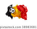 The national flag of Belgium. FIFA World Cup 38983681
