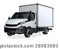 vector, truck, template 38983683