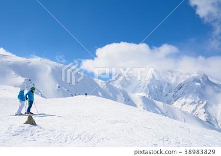 맑은 핫포 오네 스키장 38983829