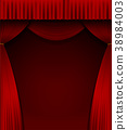 Stage red curtain curtain background illustration material (vertical) 38984003