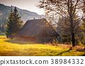 Old wooden hut. 38984332