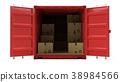 cargo cardboard container 38984566