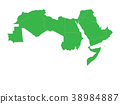 Arab World states. Blank political map of 22 38984887