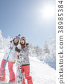 เล่นสกีสโนว์บอร์ดน้ำแข็ง 38985384