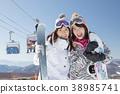 滑雪滑雪板 38985741