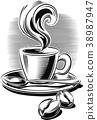 咖啡 豆子 豆 38987947
