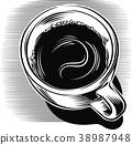 咖啡 饮料 喝 38987948
