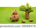 หมูป่า,ปีใหม่,สนามหญ้า 38988476