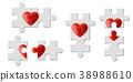 Set of heart puzzles represent Love 38988610