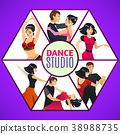 Dance Studio Template in Cartoon Style 38988735