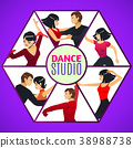 Dance Studio Template in Cartoon Style 38988738