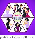 Dance Studio Template in Cartoon Style 38988753